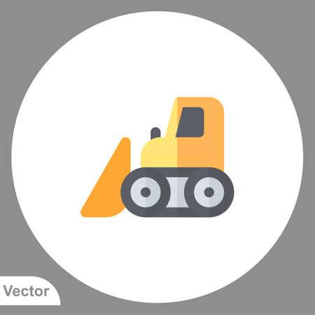 Bulldozer icon sign vector, Symbol illustration for web and mobile Illusztráció
