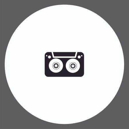 Cassette vector icon sign symbol 向量圖像