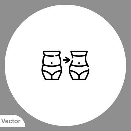 Weight loss vector icon sign symbol