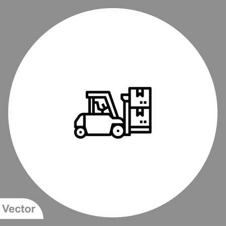 Forklift icon sign vector, Symbol illustration for web and mobile