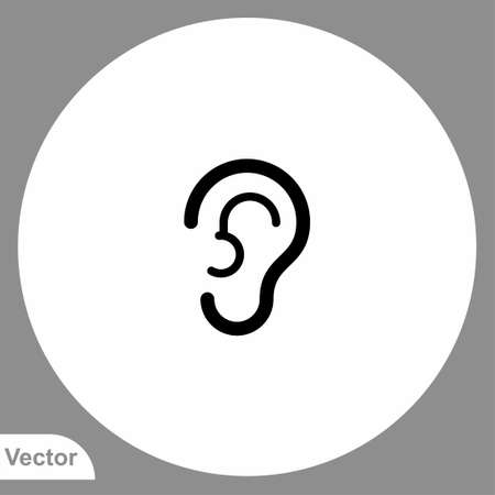 Ear vector icon sign symbol