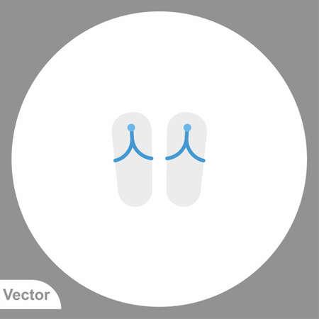 Sandals vector icon sign symbol