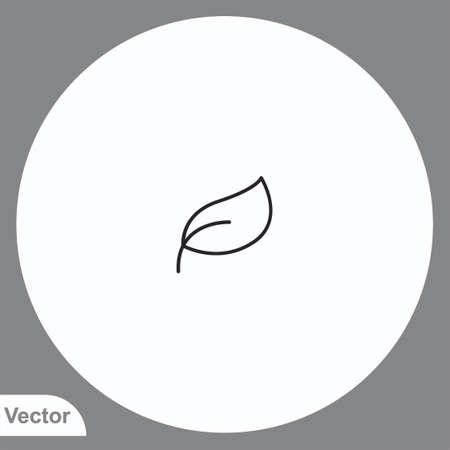 Leaf vector icon sign symbol