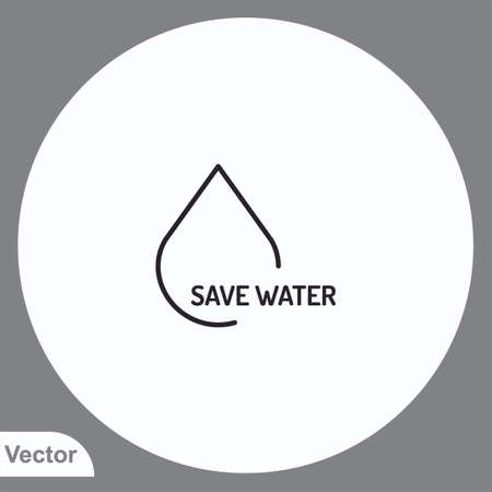 Save water vector icon sign symbol