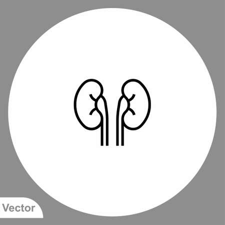 Kidney vector icon sign symbol Ilustração