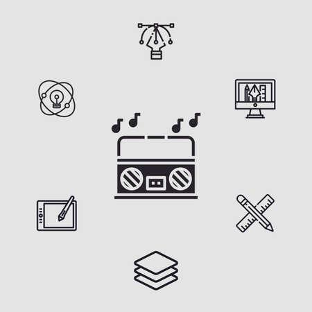 Radio vector icon sign symbol 向量圖像