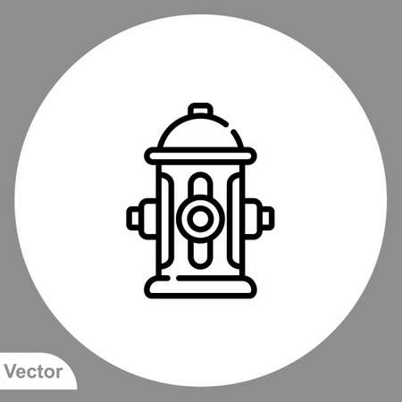 Fire hydrant icon sign vector, Symbol illustration for web and mobile 向量圖像