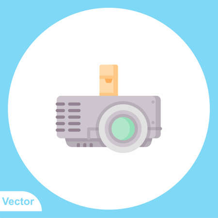 Projector vector icon sign symbol Ilustração