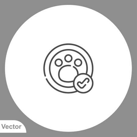 Paw print icon sign vector, Symbol illustration for web and mobile 向量圖像