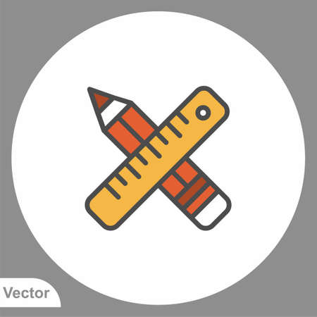 Pencil icon sign vector, Symbol illustration for web and mobile 矢量图像