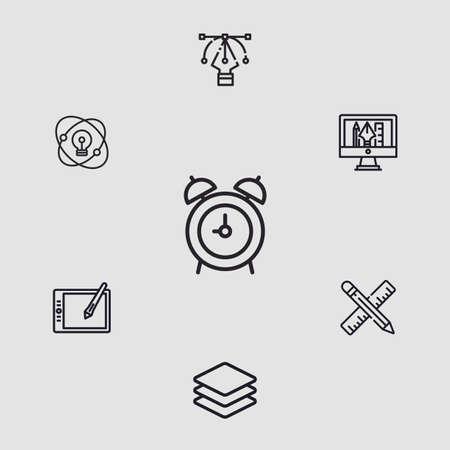Alarm clock vector icon sign symbol