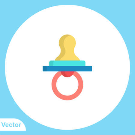 Pacifier vector icon sign symbol  イラスト・ベクター素材