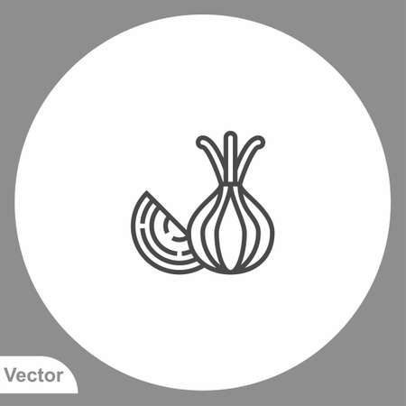 Onion icon sign vector, Symbol illustration for web and mobile