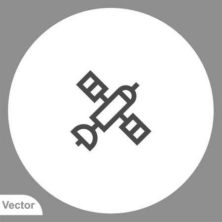 Satellite icon sign vector, Symbol illustration for web and mobile Illusztráció