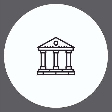Bank vector icon sign symbol