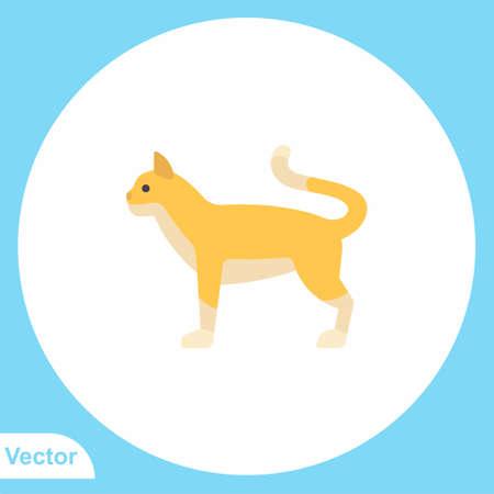 Cat vector icon sign symbol