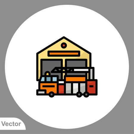 Fire truck icon sign vector, Symbol illustration for web and mobile Vectores