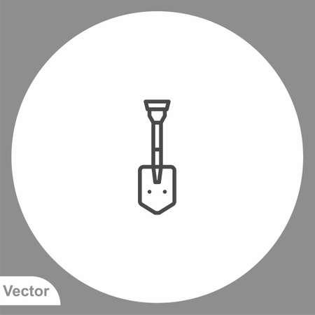 Shovel icon sign vector, Symbol illustration for web and mobile Illusztráció