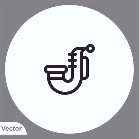 Saxophone vector icon sign symbol