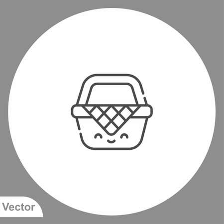 Picnic basket icon sign vector, Symbol, logo illustration for web and mobile Illusztráció