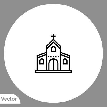 Church icon sign vector, Symbol, logo illustration for web and mobile Vettoriali