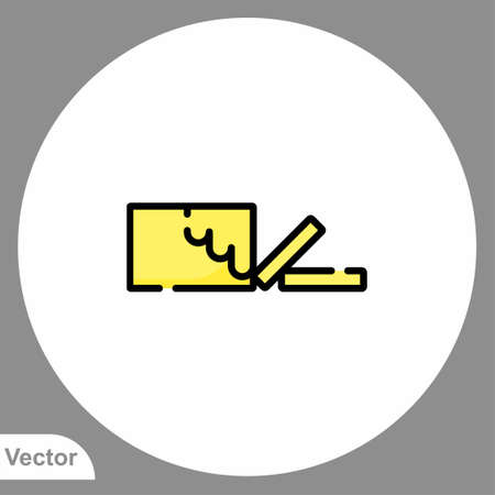 Butter icon sign vector, Symbol, logo illustration for web and mobile