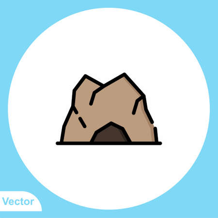 Mountain flat vector icon sign symbol