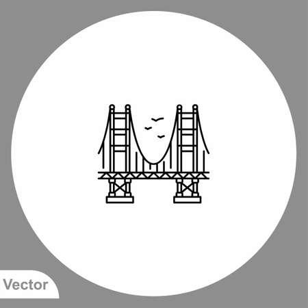 Bridge icon sign vector, Symbol, logo illustration for web and mobile