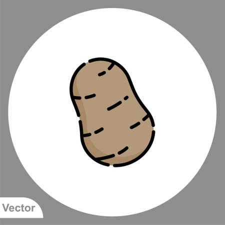 Potato icon sign vector, Symbol, logo illustration for web and mobile Ilustracja