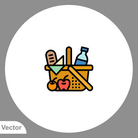 Picnic basket icon sign vector, Symbol, illustration for web and mobile