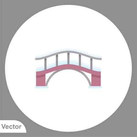 Bridge icon sign vector, Symbol, illustration for web and mobile