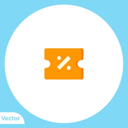 Discount vector icon sign symbol