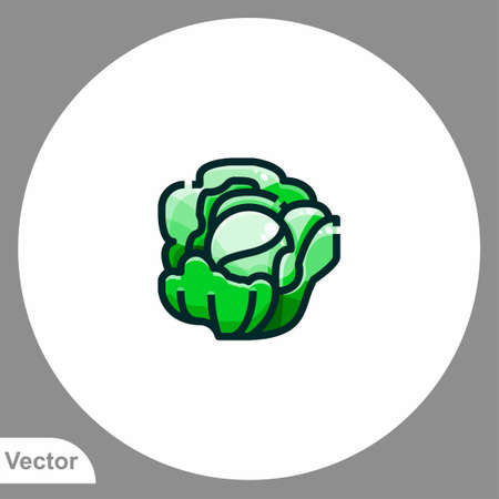 Cabbage icon sign vector, Symbol, illustration for web and mobile Illustration