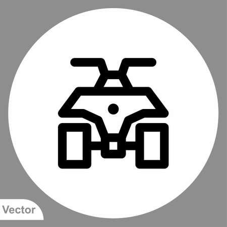 Atv icon sign vector, Symbol, illustration for web and mobile
