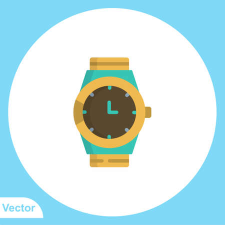 Wristwatch vector icon sign symbol 向量圖像