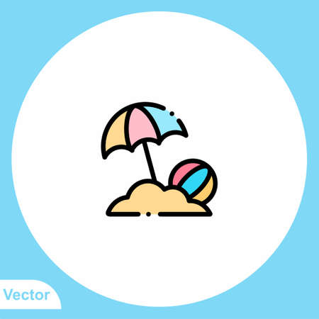 Beach vector icon sign symbol