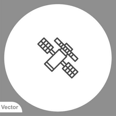 Satellite icon sign vector, Symbol, illustration for web and mobile Illusztráció
