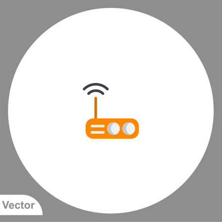 Router icon sign vector, Symbol, illustration for web and mobile