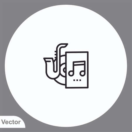 Saxophone vector icon sign symbol