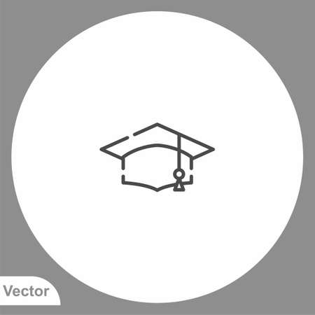 Mortarboard icon sign vector, Symbol, illustration for web and mobile