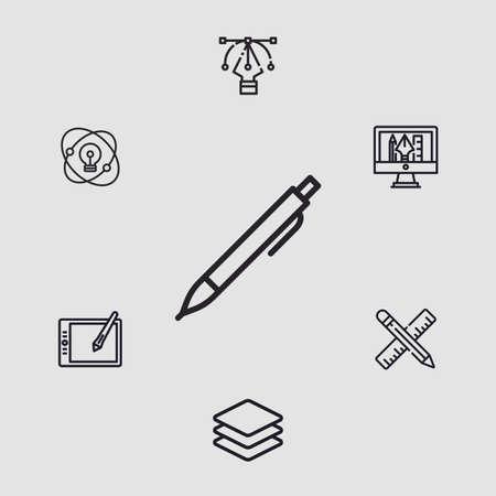 Pen vector icon sign symbol
