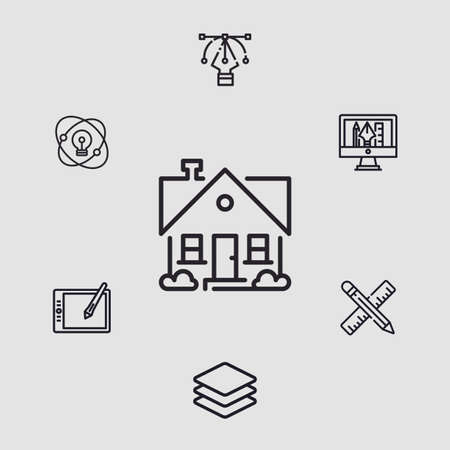 Home vector icon sign symbol Ilustracja