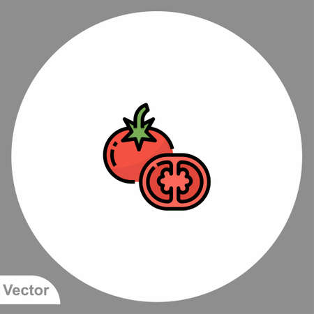 Tomato icon sign vector, Symbol, illustration for web and mobile