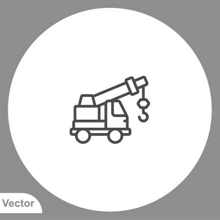 Crane icon sign vector, Symbol, illustration for web and mobile