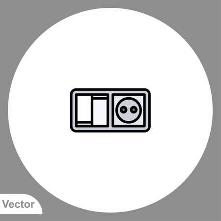 Electric switch icon sign vector, Symbol, illustration for web and mobile