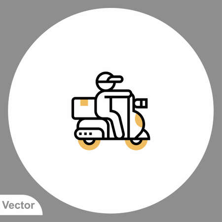 Motorcycle icon sign vector, Symbol, illustration for web and mobile