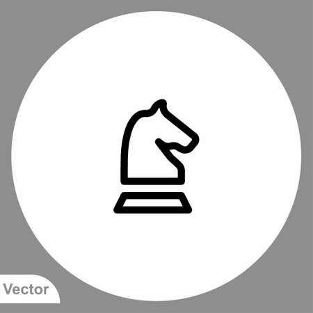 Horse vector icon sign symbol Stock Illustratie