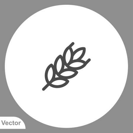Wheat icon sign vector, Symbol, illustration for web and mobile