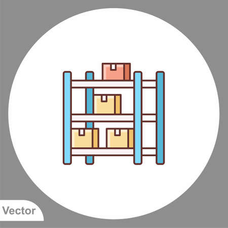 Warehouse icon sign vector, Symbol, illustration for web and mobile