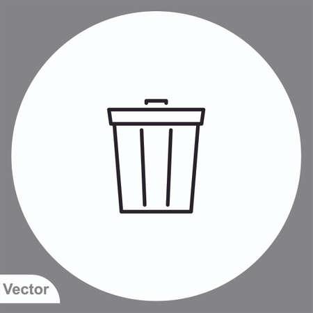 Recycle bin vector icon sign symbol
